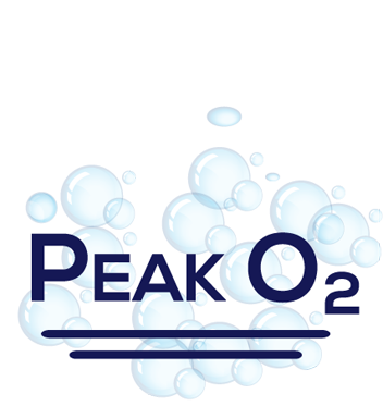 small pond aeration Peak O2 logo